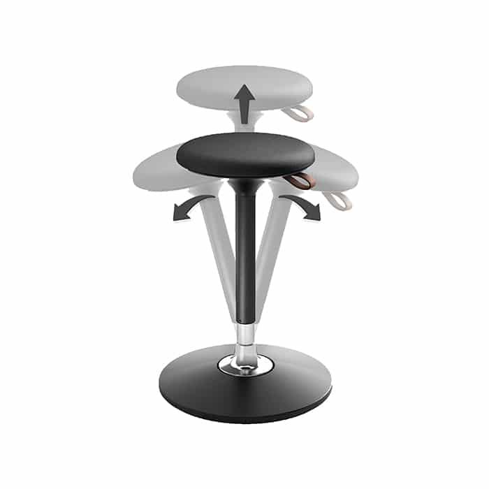 Stoodle flexible stool