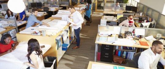 Open plan office layout