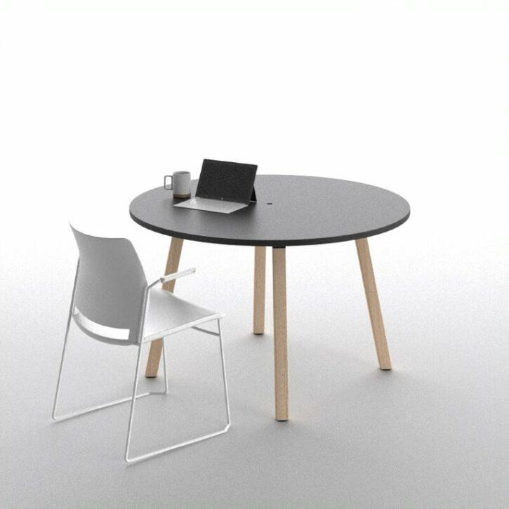 Polare – circular 2 person meeting table
