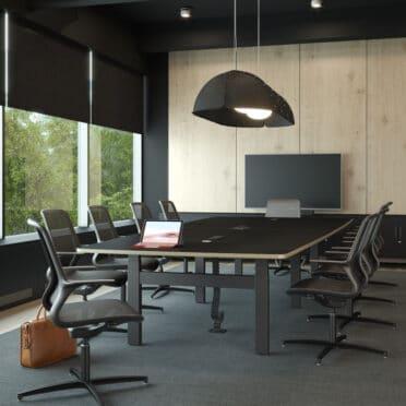 Format - Height adjustable Boardroom Table