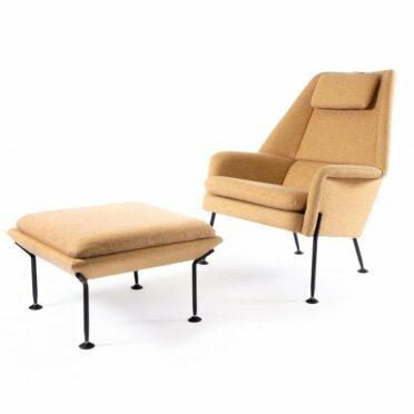 Pelican - sculptured armchair with footstool