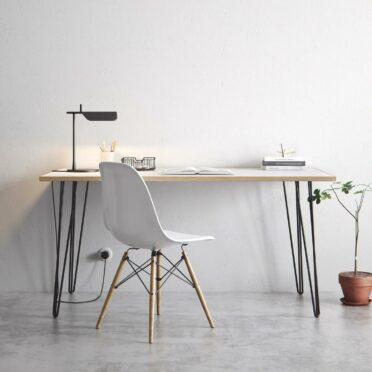 sleek individual office desk